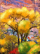 Paiting Posters - Cottonwood in the Canyon Poster by Craig Nelson