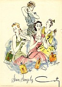 Nineteen-forties Prints - Coty 1940s Uk Womens Print by The Advertising Archives