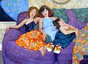 Dresses Prints - Couch Potatoes Print by Kevin Lawrence Leveque