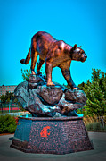 Campus Sculptures Prints - Cougar Pride Sculpture - Washington State University Print by David Patterson