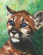 Blue Eyes Art - Cougar Prince by Linda Mears