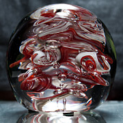 Crimson Glass Art - Cougar Spirit Glass by David Patterson