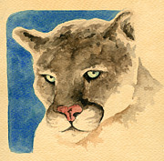 Puma Paintings - Cougar82 by Mark Jennings