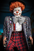 Scary Clown Framed Prints - Coulrophobia Framed Print by Charles Dobbs