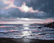 Perspective Paintings - Coumeenole Beach  Dingle Peninsula  by John  Nolan
