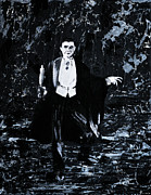 Movie Posters Paintings - Count Dracula by Alys Caviness-Gober