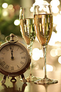 Bubbly Prints - Countdown to celebrations with champagne Print by Sandra Cunningham