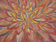 Lotus Bud Paintings - Counter Flower by Jules Wagner