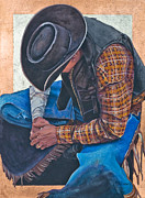 Chaps Paintings - Countin My Blessings by JK Dooley