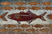 Bizarre Digital Art Prints - Counting Fish Print by Carol Leigh