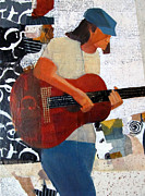 Guitar Player Mixed Media Prints - Counting Notes Print by Belinda Lima