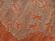 Native American Reliefs Prints - Counting Sheep Print by Katie Fitzgerald