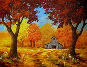 Ltd. Edition Posters - Country  Autumn  Poster by Shasta Eone