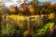 Autumn Farm Scenes Prints - Country - Autumn years  Print by Mike Savad