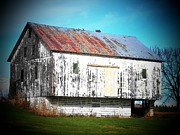 White Barns Prints - Country Barn Print by Joyce  Kimble Smith