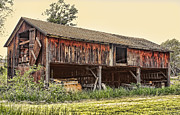 Brown Tones Photos - Country Barn  by Linda Phelps