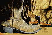 Superstar Photo Prints - Country Blues Print by Kip Krause