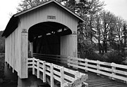 Black And White Photography Painting Metal Prints - Country Bridge Metal Print by Kirt Tisdale