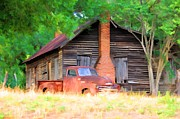 Old Houses Metal Prints - Country Bumpkin Metal Print by Jan Amiss Photography