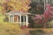 Gazebo Wall Art Posters - Country Charm Poster by Janice Austin