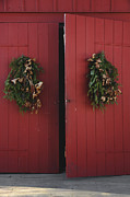 Christmas Doors Framed Prints - Country Christmas Framed Print by Margie Hurwich