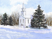 J Reifsnyder Prints - Country church Print by J Reifsnyder
