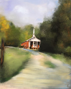 Tennessee Paintings - Country Church by Jai Johnson