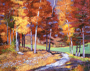 Pathway Paintings - Country Club Fall by  David Lloyd Glover