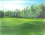 Photo Realism Drawings - Country Club by Troy Levesque
