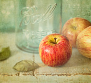 Apple Still Life Art - Country Comfort by Amy Weiss
