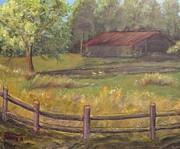 Old Barn Paintings - Country Comfort by David Earl Tucker
