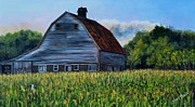 Rural Scene Originals - Country Corn Field by Shirl Theis