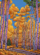 Aspen Trees Paintings - Country Corner by Johnathan Harris