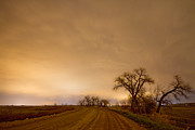 Country Scene Prints - Country Dirt Road Into The Storm Print by James Bo Insogna