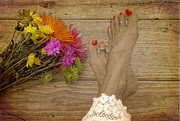 Barefeet Prints - Country Diva Print by Dianna Hauf