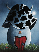 Dairy Cow Posters - Country Escape by Shawna Erback Poster by Shawna Erback