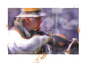 Male Portraits Digital Art Posters - Country Fiddler Poster by Bob Salo