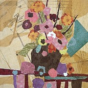 Sewing Mixed Media - Country Flowers by Micheal Jones