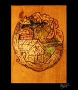 Dream Pyrography Framed Prints - Country Graze Framed Print by Brandon Baker ArtZen