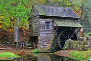 Grist Mill Posters - Country Grist Mill Poster by Paul Ward
