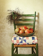 Blanket Mixed Media Prints - Country Harvest Print by Vicki McLead