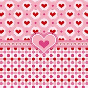 Hearts Digital Art - Country Hearts by Debra  Miller