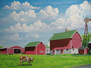 Old Barns Painting Prints - Country Home Print by Norm Starks