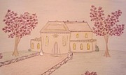 Architectural Design Pastels - Country House by Christine Corretti