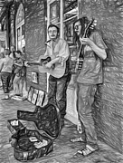 Steve Harrington - Country in the French Quarter - Paint bw