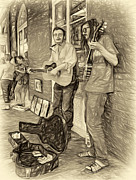 Steve Harrington - Country in the French Quarter - Paint sepia