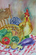 Kitchen Chair Paintings - Country Kitchen by Gloria Johnson
