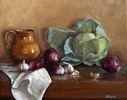 Italian Kitchen Paintings - Country Kitchen by Viktoria K Majestic