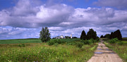 Clouds Photographs Posters - Country Lane Poster by Anonymous