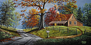 Split Rail Fence Prints - Country Life Print by Gary Adams